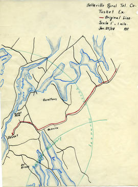 Map of Belleville Rural Telephone Company's telephone line