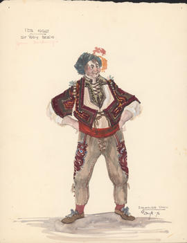 Costume design for Sir Toby Belch
