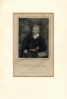 Engraved portrait of Edward Jenner M.D. [1749-1823]