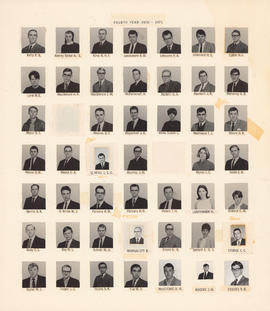 Composite photograph of the Faculty of Medicine - Fourth Year Class, 1970-1971 (Kelly to Yue )