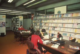 Photograph of the interior of the Killam Library, Dalhousie University