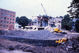 Photograph of Medical-Dental Library demolition