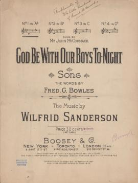 God be with our boys tonight : [sheet music]