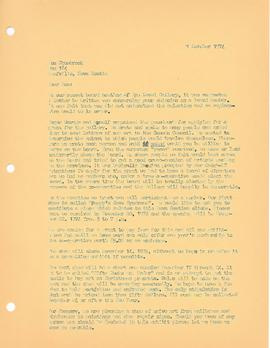 Letter from Julia Schmitt Healy to Ron Shuebrook