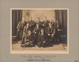 Photograph of the Dalhousie Y.M.C.A. cabinet of 1910-1911
