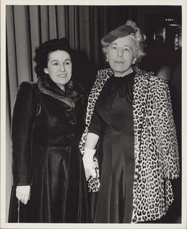 Photograph of Ellen Ballon with unidentified woman