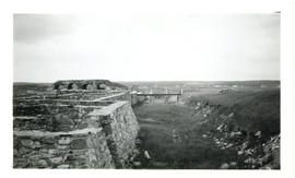 Photograph of the inner moat between the town and King's bastion at the Fortress of Lousibourg