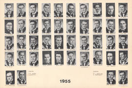 Composite photograph of the Faculty of Medicine - Class of 1955