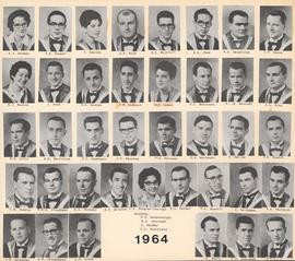 Composite photograph of the Faculty of Medicine - Class of 1964