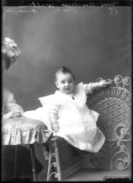 Photograph of the child of Mrs. Andrew Wallace