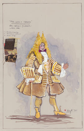Costume design for Sir Cautious Fulbank