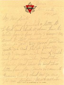 Letter addressed to  Gertrude Morash dated November 20, 1918