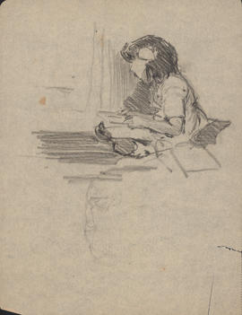 Arthur Lismer sketch of his daughter, Marjorie : [drawing]