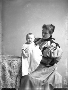 Photograph of Mrs. Robertson and baby