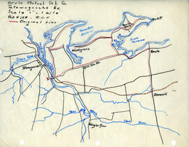 Map of Brule Mutual Telephone Company's telephone line