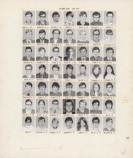 Composite photograph of the Faculty of Medicine - Second Year Class, 1971-1972 (Adams to McCurdy)