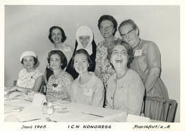 Photograph of Canadians at Luncheon, International Council of Nurses Kongress June 1965