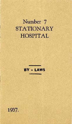 No. 7 Stationary Hospital Benevolent Association by-laws