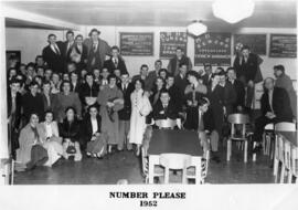 Photograph of the cast of the Number Please minstrel review