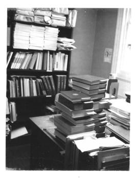 Photograph of the cataloging office in the Medical-Dental Library - 5963 College Street