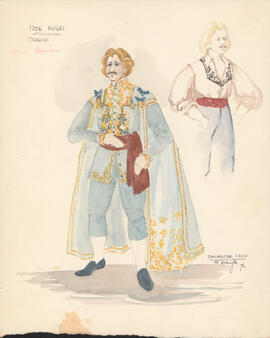 Costume design for Orsino