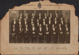 Photograph of Nu Sigma chapter of Phi Chi Medical fraternity