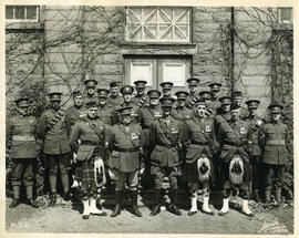 "Photograph of the staff of the ""Canadian Coronation Contingent"" for King George the Sixth"