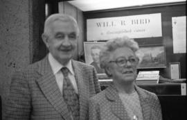 Photograph of Mr. and Mrs. William R. Bird at the Killam Library, Dalhousie University