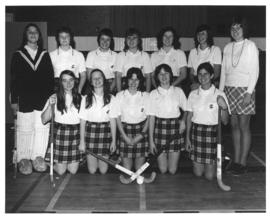 Photograph of the 1972 Dalhousie women's field hockey team