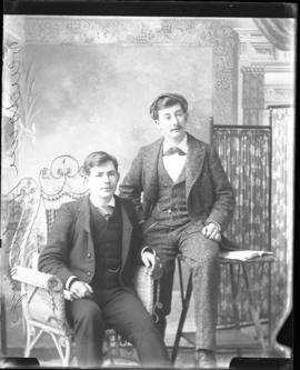 Photograph of two unknown boys from the Vendome Hotel