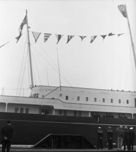 Photograph of a ship docked in Halifax