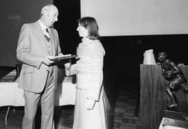 Photograph of Lynn Fergusson and Rod Shoveller : Nancy Lynn MacDonald Memorial Award presentation