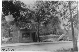 Photograph of a building being demolished on [Sackville?] street near [South Park?] in Halifax No...