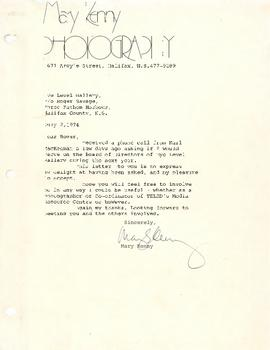Letter from Mary Kenny to Roger Savage