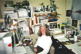 Photograph of Kellogg Library Acquisitions Librarian Gail Fraser