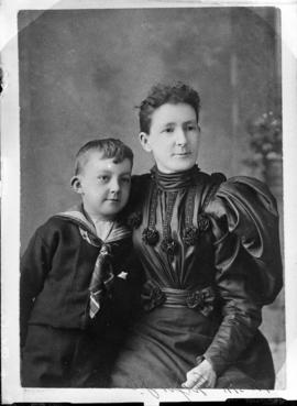 Photograph of Mrs. McGregor and her son