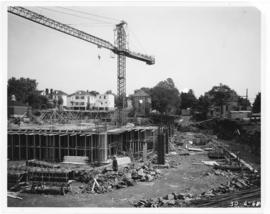 Photograph of the Killam Memorial Library construction