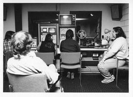 Photograph of a television control room