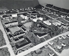 Photograph of a model of the Sexton Campus, Dalhousie University