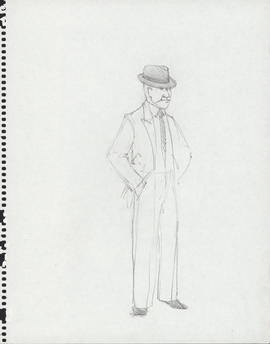 Costume design for man in two-piece suit