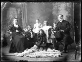 Photograph of Rev. & Mrs. Thompson & their grandchildren