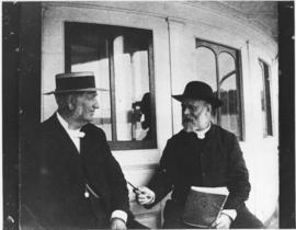 Photograph of Rev. Donald MacMillan and Dr. Daniel Gordon on board S. S. Marion