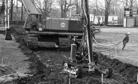 Photograph of an excavation for a heating system
