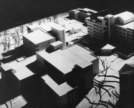 Photograph of a model of the proposed Life Sciences Centre
