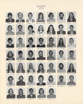 Composite photograph of the Faculty of Medicine - First Year Class, 1972-1973 (Lowney to Williamson)