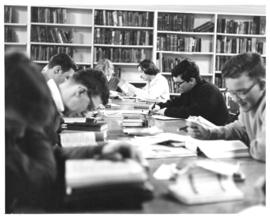 Photograph of students working in the Macdonald library reading room