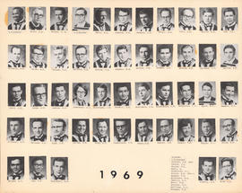 Composite Photograph of the Faculty of Medicine - Class of 1969