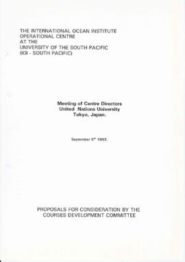 Meeting of centre directors : [proposal from the International Ocean Institute's operational...