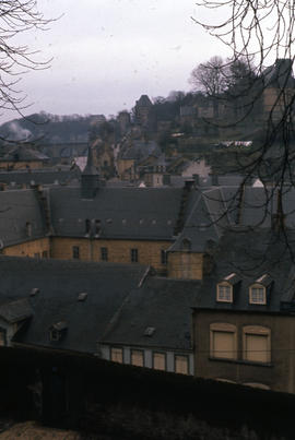 Photograph of houses in Luxembourg taken from above