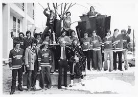 Photograph of the Dalhousie Law hockey team